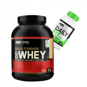 Gold Standard 5lb Whey Protein + Daily Fit Stack!