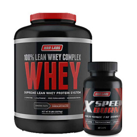 Lean Whey Complex 5lb + X-SPEED BURN 60CP STACK