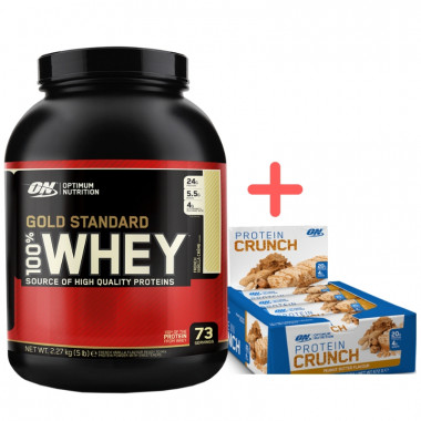 Gold Standard 5lb Whey Protein + ON Crunch Bars Box 12pk