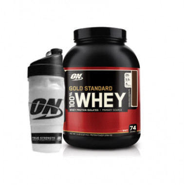 Gold Standard 5lb Whey Protein + ON Free Shaker!