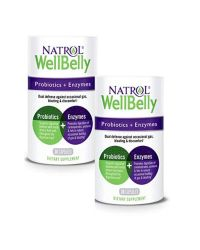 Natrol WellBelly Probiotic & Enzymes 30cp x2