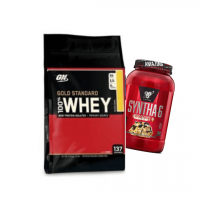 Gold Standard 10lb + Syntha-6 2lb stack
